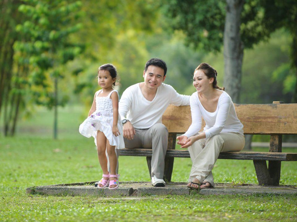 Taman kota bersama keluarga