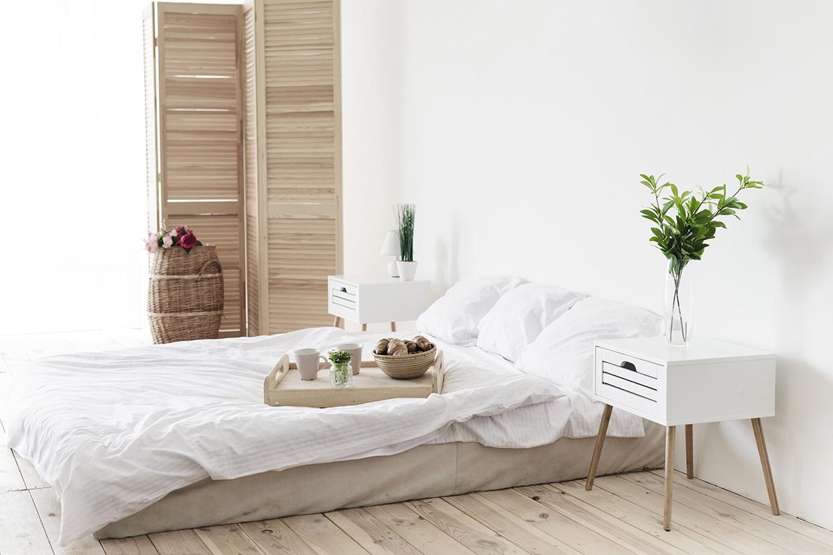Dekorasi kamar tidur dengan kasur lantai
