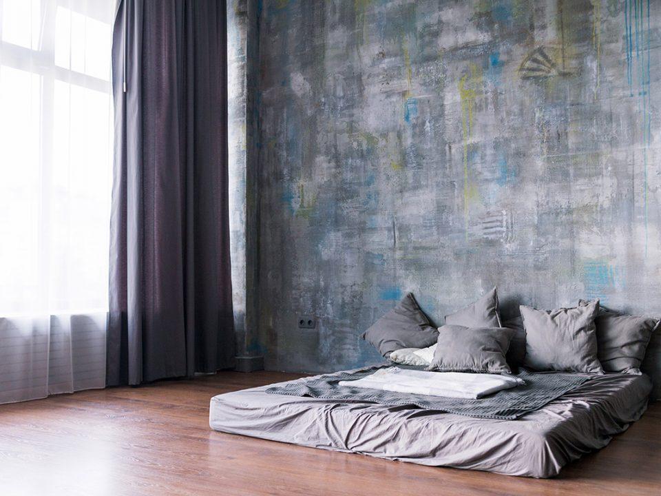 Dekorasi kamar dengan kasur lantai