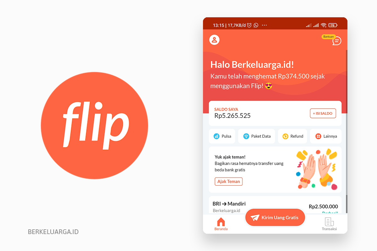 aplikasi transfer bank