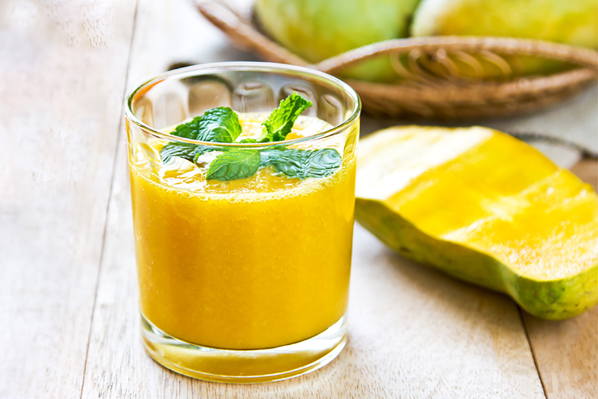 Creamy mango sauce